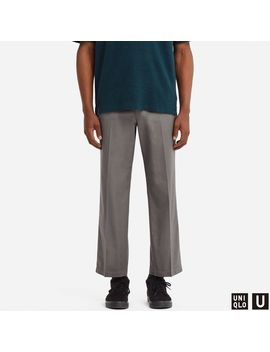 U Regular Fit Ankle Pants by Uniqlo