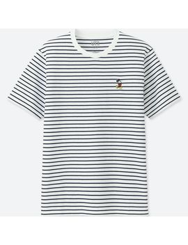 Mickey Stands Striped T Shirt by Uniqlo
