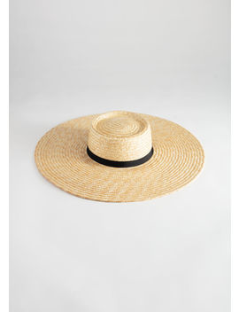 Round Top Straw Hat by & Other Stories