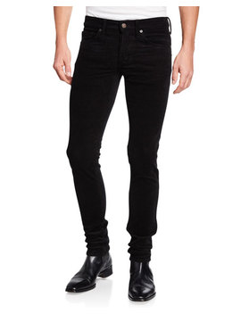 Men's Low Rise Slim Fit Corduroy Pants by Tom Ford