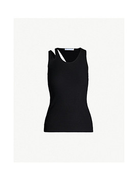 Double Strap Stretch Tank Top by Helmut Lang