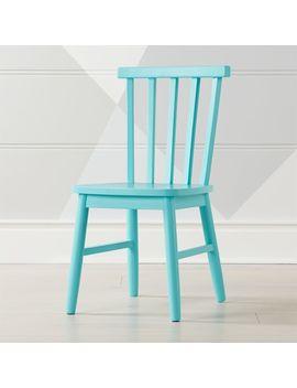 Shore Light Blue Kids Chair by Crate&Barrel