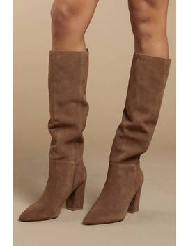 Steve Madden Raddle Tan Suede Boots by Tobi