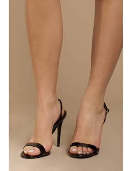 Diana Black Patent Heels by Tobi