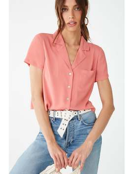 Notched Collar Shirt by Forever 21