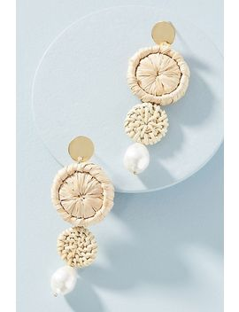 Hideaway Straw Drop Earrings by Serefina