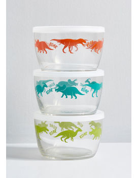 Prehistoric Storage Glass Container Set by Modcloth