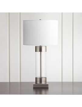 Avenue Nickel Table Lamp With Usb Port, Set Of 2 by Crate&Barrel