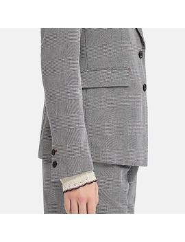 Women Cotton Checked Blazer (Ines De La Fressange) by Uniqlo