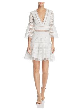Bell Sleeve Eyelet & Lace Dress   100 Percents Exclusive by Aqua
