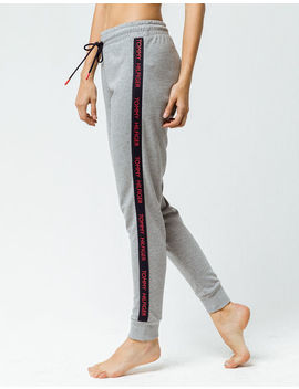 Tommy Hilfiger Logo Heather Gray Womens Jogger Pants by Tommy Hilfiger