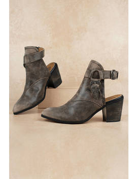 Sbicca Scorpi Charcoal Slip On Ankle Boots by Tobi
