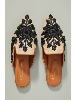 Anthropologie Therese Beaded Mules by Anthropologie