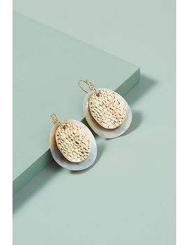 Mixed Media Shell Earrings by Anthropologie