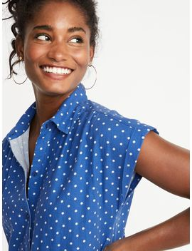 Printed Linen Blend Shirt Dress For Women by Old Navy