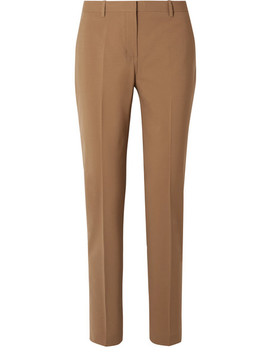 Wool Blend Straight Leg Pants by Theory