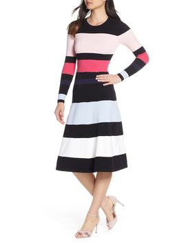 Stripe Sweater Dress by Eliza J
