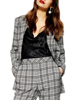 Molly Check Jacket by Topshop