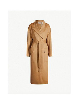 Botanical Belted Wool And Mohair Blend Coat by Loewe