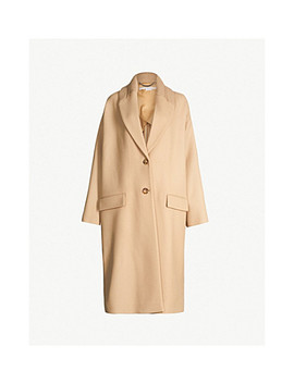 Knitted Collar Wool Blend Coat by Stella Mccartney