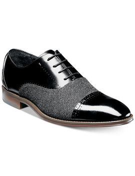 Stacy Adam's Men's Barrington Cap Toe Leather Oxfords by Stacy Adams