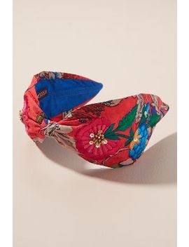 Floral Embroidered Embellished Headband by Anthropologie