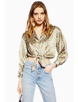 Paisley Knot Front Shirt by Topshop