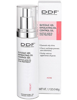 Online Only Glycolic 10 Percents Exfoliating Oil Control Gel by Ddf