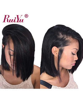 Ruiyu 13x6 Bob Wigs Short Human Hair Wigs For Black Women 150 Percents Density Malaysian Straight Lace Front Human Hair Wigs Remy Wigs by Ruiyu