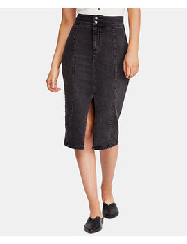 Maddie Denim Midi Skirt by Free People