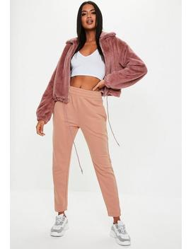 Pink Basic Joggers by Missguided