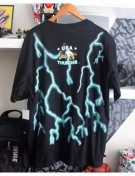 Vintage 90s Usa Thunder Forever Free Og Lighting Bolt T Shirt Rare Streetwear Xl by Ebay Seller