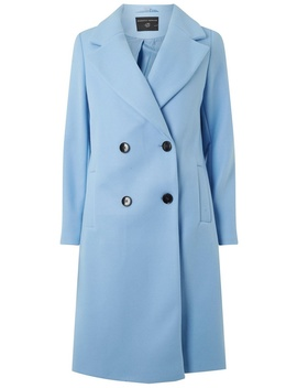 Blue Double Breasted Coat by Dorothy Perkins