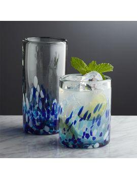 Rue Blue Glasses by Crate&Barrel