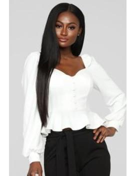 Got Plans Tonight Top   Ivory by Fashion Nova