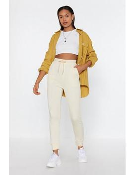 On The Run High Waisted Joggers by Nasty Gal