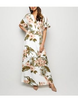 Mela Off White Tropical Floral Maxi Dress by New Look