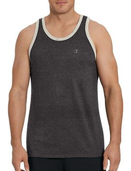 Champion Men's Classic Cotton Ringer Sleeveless Shirt by Champion