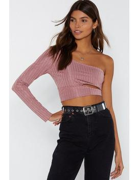 You're One Of A Kind One Shoulder Ribbed Top by Nasty Gal