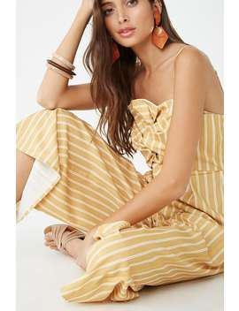 Striped Twist Front Jumpsuit by Forever 21