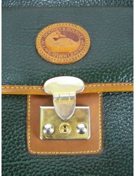 Green Brown Shoulder And Hand Bag Purse Dooney & Bourke All Weather Leather by Dooney & Bourke