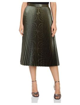 Evie Metallic Pleated Skirt by Bloomingdales