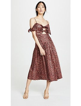 Sleeveless Leopard Bow Dress by Rebecca Taylor
