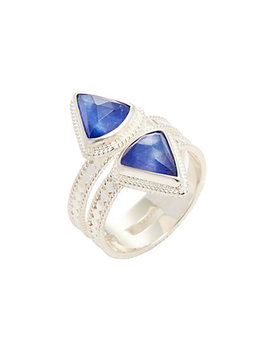 Anna Beck Jewelry Double Triangle Band Lapis Triplet Trend Ring by Anna Beck