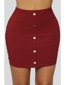 Never Looking Back Mini Skirt   Burgundy by Fashion Nova