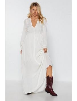 Sweep Me Off My Feet Button Down Maxi Dress by Nasty Gal