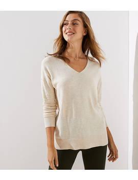 Petite V Neck Sweater by Loft