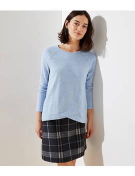 Melange Crossover Sweatshirt by Loft
