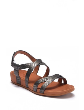 Lumy Shimmersnake Embossed Sandal by Fitflop