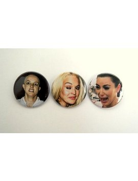 Britney Spears, Lindsay Lohan, Kim Kardashian   Pinback Button, Clip Or Magnet  1.5 Inch by Etsy